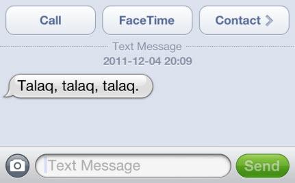Talaq via text