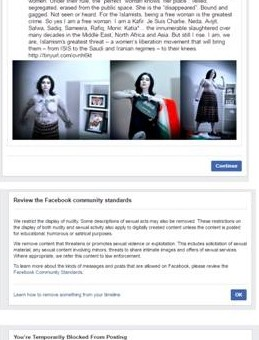 Is this a joke Facebook? Banned again?
