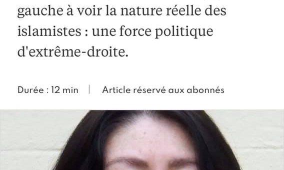 """""""مصاحبه لکسپرس فرانسه با مریم نمازی- """"حق انتقاد از اسلام برای ما ناباوران اسلام حیاطیاست"""